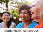 mature female friends... | Shutterstock . vector #583329955