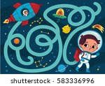 space boy  vector illustration... | Shutterstock .eps vector #583336996