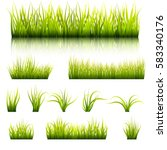 set of elements of a green... | Shutterstock .eps vector #583340176