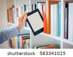 e book reader and colorful... | Shutterstock . vector #583341025