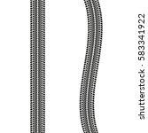 tire treads isolated on white... | Shutterstock .eps vector #583341922