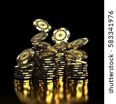 luxury casino chip gold and... | Shutterstock . vector #583341976