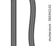tire treads isolated on white... | Shutterstock .eps vector #583342132