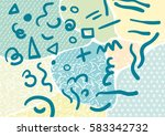 creative geometric colorful... | Shutterstock .eps vector #583342732