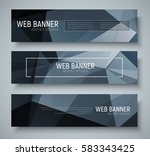 set of horizontal banners with... | Shutterstock .eps vector #583343425