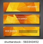set of horizontal web banner... | Shutterstock .eps vector #583343452