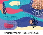 creative geometric colorful... | Shutterstock .eps vector #583343566