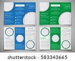 template triple folding... | Shutterstock .eps vector #583343665