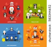 four square flat law icon set... | Shutterstock .eps vector #583344652