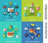 seo analytics square design... | Shutterstock .eps vector #583344862