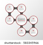 infographics template. metaball ... | Shutterstock .eps vector #583345966