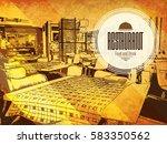 restaurant menu design. vector... | Shutterstock .eps vector #583350562