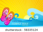 beach shoes on the background... | Shutterstock . vector #58335124