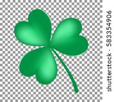 Green Shamrock Leaf Icon...