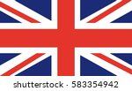 flag of united kingdom  uk ... | Shutterstock .eps vector #583354942