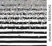 silver pattern of falling... | Shutterstock .eps vector #583356142
