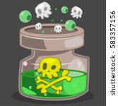 poison bottle game icon. vector ...