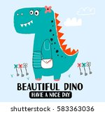dinosaur illustration vector... | Shutterstock .eps vector #583363036