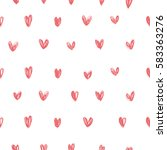 romantic pattern with hearts.... | Shutterstock .eps vector #583363276