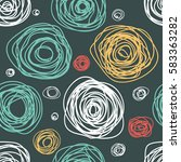 seamless pattern with hand... | Shutterstock .eps vector #583363282