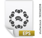 conference icon vector flat...   Shutterstock .eps vector #583368208
