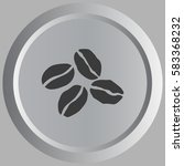 coffee beans vector icon... | Shutterstock .eps vector #583368232