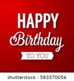 happy birthday typographic... | Shutterstock .eps vector #583370056