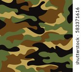 camouflage pattern background.... | Shutterstock .eps vector #583371616