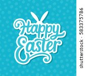 happy easter banner background... | Shutterstock .eps vector #583375786