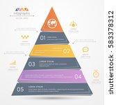 pyramid infographics design...   Shutterstock .eps vector #583378312