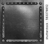metallic background with... | Shutterstock . vector #583378852
