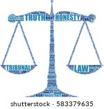 justice balance silhouette... | Shutterstock .eps vector #583379635