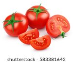 red tomato vegetables with... | Shutterstock . vector #583381642