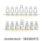 cartoon working  little people... | Shutterstock .eps vector #583383472
