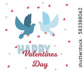 valentine day 14 february... | Shutterstock . vector #583388062