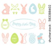 easter vector design elements | Shutterstock .eps vector #583388602