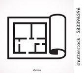 floor plan icon vector | Shutterstock .eps vector #583396396