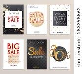 sale website banners web... | Shutterstock .eps vector #583398862
