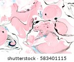 Marbled Diy Paper Texture. Han...