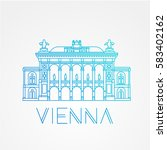 vienna state opera. the symbol... | Shutterstock .eps vector #583402162