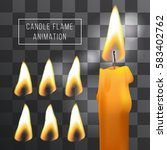 Vector Wax Candle Flame...