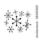 retro stars 4   retro clip art | Shutterstock .eps vector #58340305