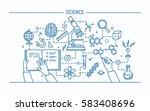 line art contour vector... | Shutterstock .eps vector #583408696