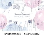 fashion cosmetics horizontal... | Shutterstock .eps vector #583408882