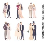 beautiful and fashionable... | Shutterstock .eps vector #583408906