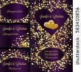 luxury wedding invitation and... | Shutterstock .eps vector #583410856
