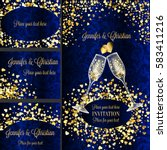 luxury wedding invitation and... | Shutterstock .eps vector #583411216