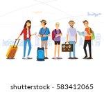 group of traveler  people ... | Shutterstock .eps vector #583412065