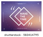 make the time   qoute on...   Shutterstock .eps vector #583414795