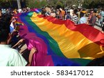 hyderabad february 19  lgbt... | Shutterstock . vector #583417012